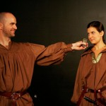 Scott Mackenzie as Iago and Marisa Costa as Cassio in 'Othello'